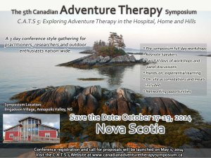 Save the Date - Canadian Adventure Therapy Symposium